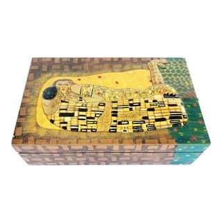 Vintage Gustav Klimt or Asian Style Box For Sale