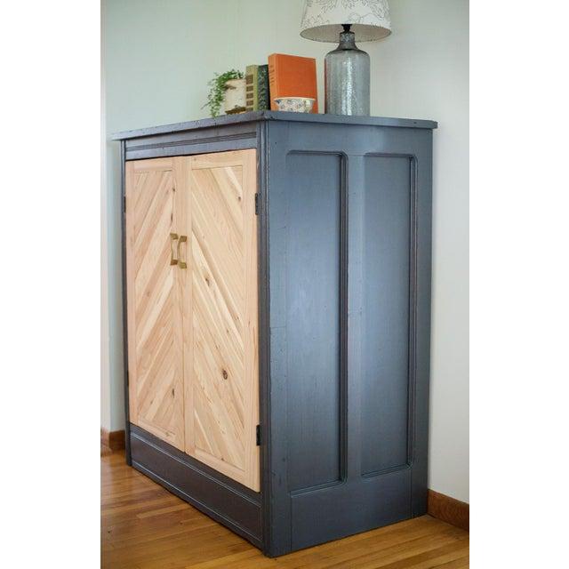 Antique Letterpress Cedar Cabinet - Image 10 of 11