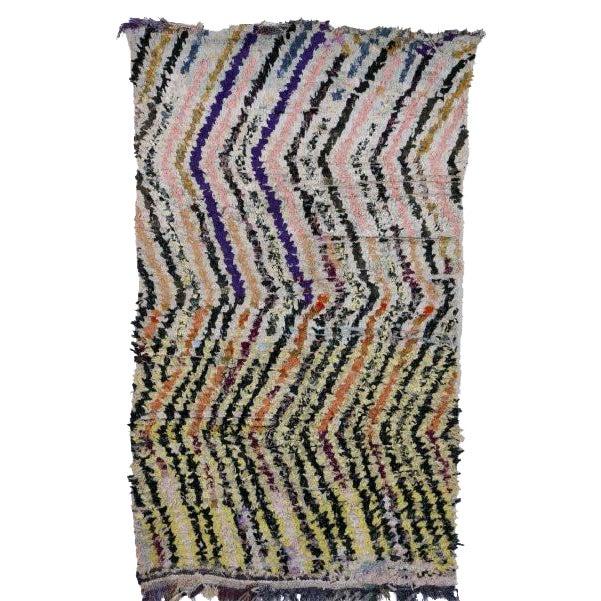 """Moroccan Boucherouite Carpet - 6'2""""x2'8"""" For Sale"""