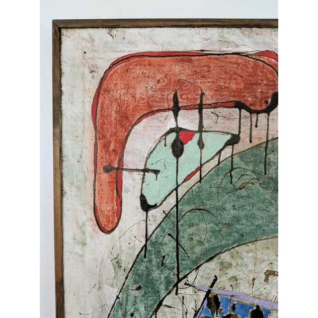 Contemporary Andrea Bonora Painting in the Manner of Basquiat For Sale In Miami - Image 6 of 13