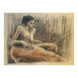 Image of Vintage Figurative Drawing For Sale