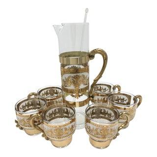1960s Vintage Russian Martini Cocktail Set- 8 Pieces For Sale