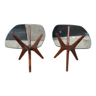 Adrian Pearsall Solid Walnut Jacks Side Tables - a Pair For Sale