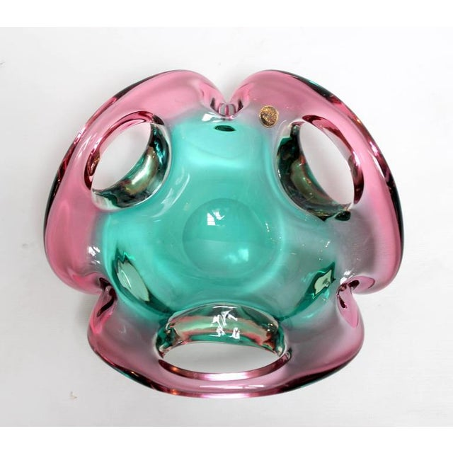 Mid 20th Century Mid-Century Sculptural Murano Glass Dish For Sale - Image 5 of 11