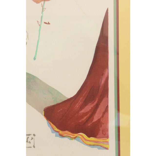 "Salvador Dalí Salvador Dali 1970s Lithograph, ""Apollo"" For Sale - Image 4 of 10"