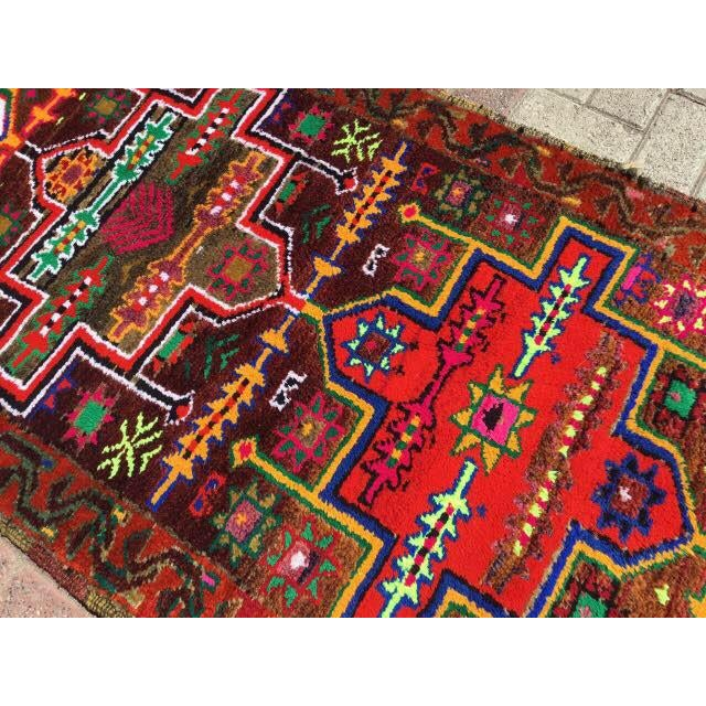 Vintage Hand Knotted Turkish Runner - 2′11″ × 14′5″ - Image 5 of 7