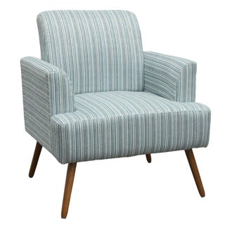 Modern Iris Striped Blue Armchair For Sale