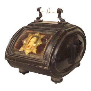 English Victorian Iron Coal Scuttle For Sale