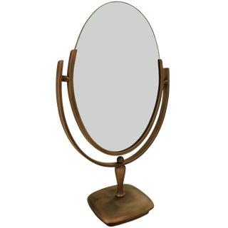 Antique Brass Vanity Mirror by Charles Hollis Jones For Sale