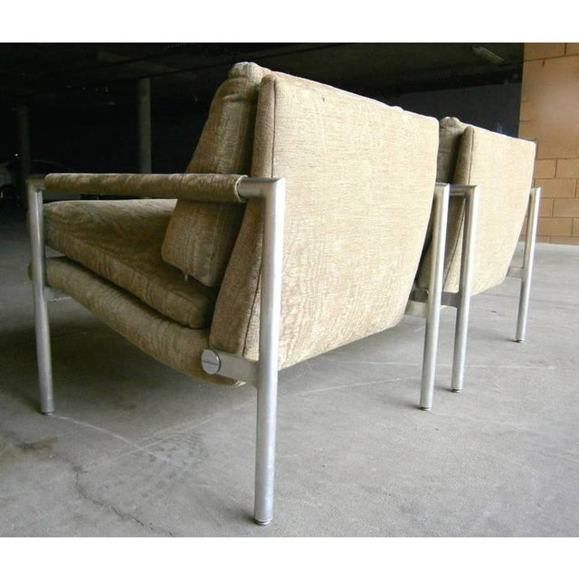 1960s Aluminum Club Chairs - A Pair - Image 6 of 7