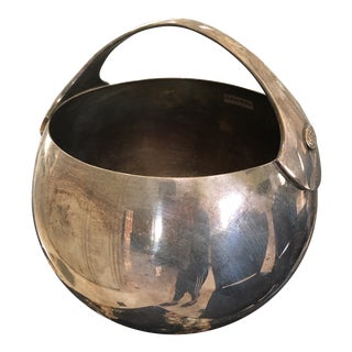 Christofle Silver Plated Ice Bucket Bulle d'Argent For Sale