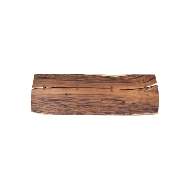 Modern Live Edge Wood Dining Table For Sale - Image 3 of 4