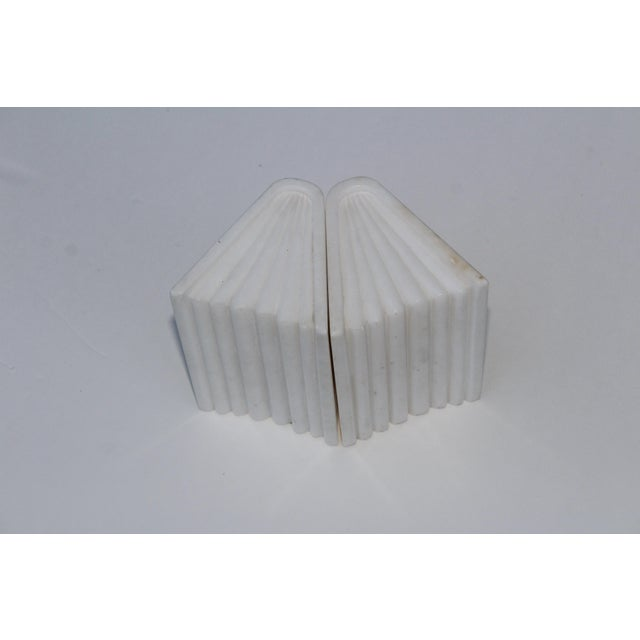 Mid 20th Century 1950s Italian Carrara Marble Bookends For Sale - Image 5 of 10