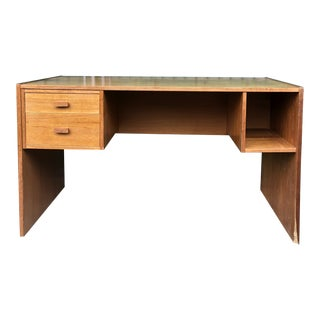Danish Modern Writing Desk With Finished Back For Sale