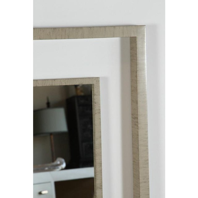Modern Paul Marra Negative Space Mirror with Horse Hair and Drybrush Patina For Sale - Image 3 of 6