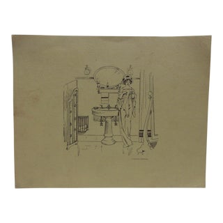 "Mid 20th Century Original Kohler Advertising Print on Paper, ""By the Sink"" For Sale"