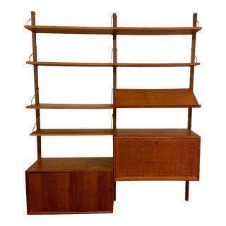 Two Bay Cado Royal Wall System in Teak by Poul Cadovius For Sale