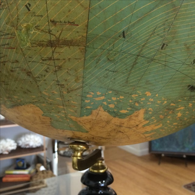19th C. French Globe Terrestre - Image 11 of 11