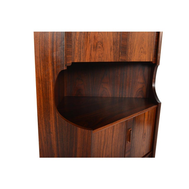 Danish Modern Rosewood Corner Bar - Image 9 of 9