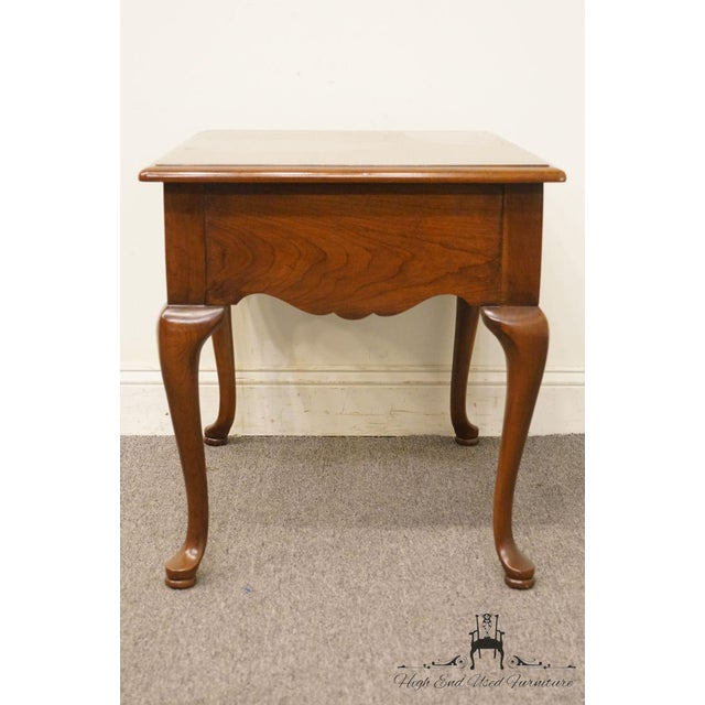 Thomasville Furniture Collectors Cherry Collection End Table For Sale - Image 9 of 13