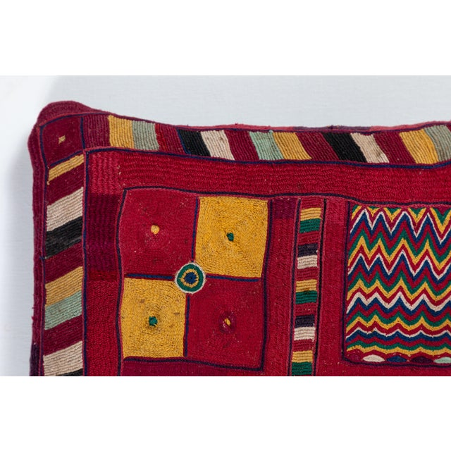Asian Indian Banjara Embroidered Pillow For Sale - Image 3 of 5