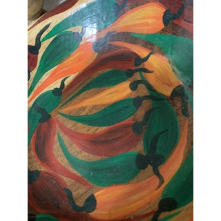Spanish Hand-Painted Colorful Wooden Peppers Handmade Bowl Preview