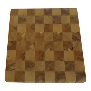 Cherry/Sycamore Chess Board With Storage Area For Sale
