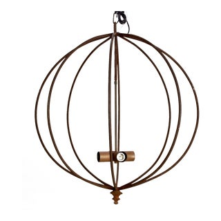 Mid Century Iron Sphere Light Fixture For Sale