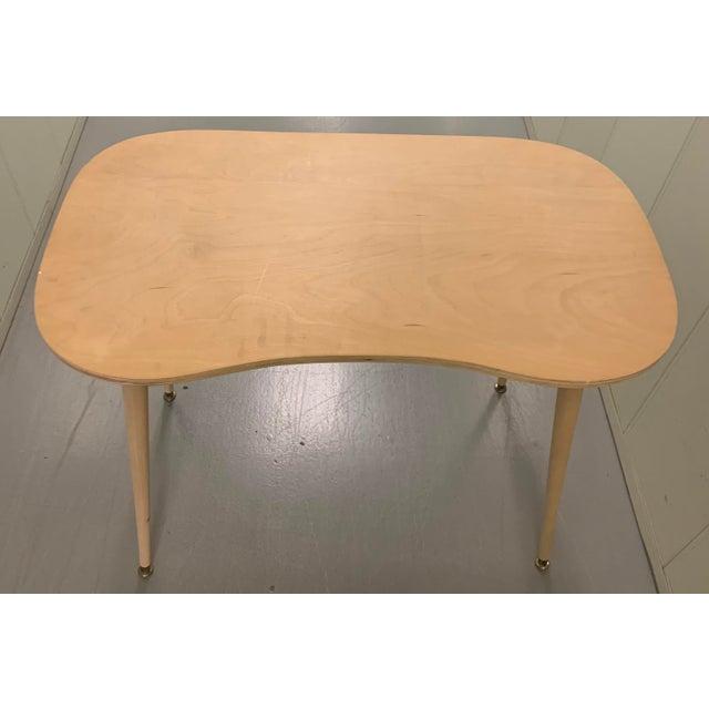 Wood Custom Brunschwig & Fils Fabric Skirted Vanity Table For Sale - Image 7 of 12