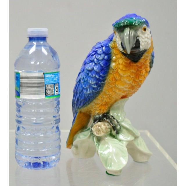 Vintage with Goebel Porcelain Blue Green Macaw Parrot Bird Figurine For Sale - Image 10 of 11