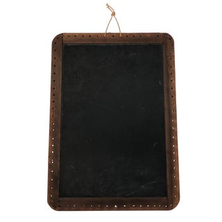 Antique Schoolhouse Silent Chalkboard With Wood Frame For Sale