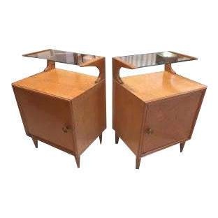 Vintage Mid-Century Nightstands, France, a Pair For Sale