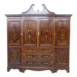 20th Century Edwardian Mahogany Breakfront For Sale