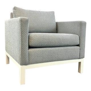 Bungalow 5 Modern Blue Tweed Rachel Club Chair For Sale
