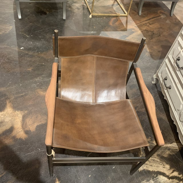 Coffee Vachetta Coffee Leather Barcelona Chair by Cisco Brothers For Sale - Image 8 of 13