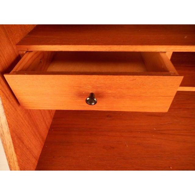 Teak Mid-Century Modern Danish Teak Secretary Desk For Sale - Image 7 of 9