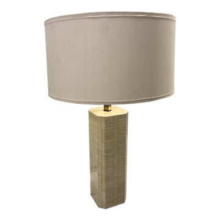 1950s Mid-Century Modern Truex American Furniture Square Lamp For Sale