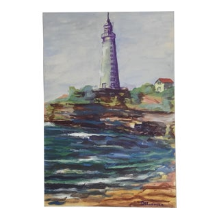 French Coastal Seascape Painting For Sale