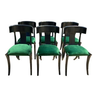 Mid Century Modern Style Dining Chairs - Set of 6 For Sale