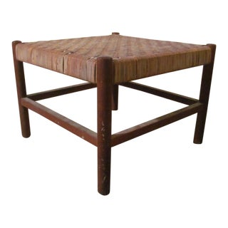 Vintage Danish Modern Foot Stool Designed by Axel Thygesen For Sale