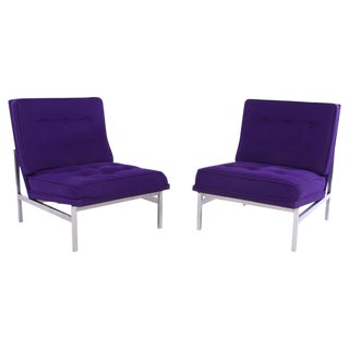 Florence Knoll Vintage Parallel Chairs - A Pair
