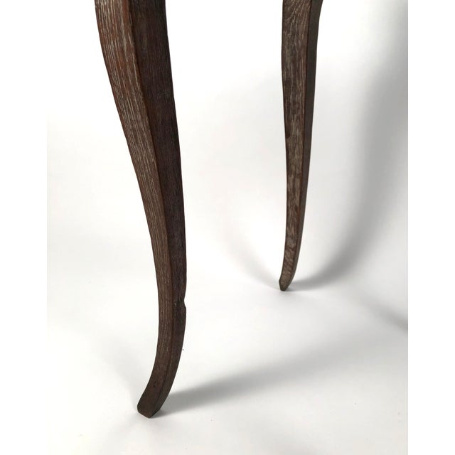 Louis XV Small Louis XV Style Walnut and Limed Oak Side Table For Sale - Image 3 of 11