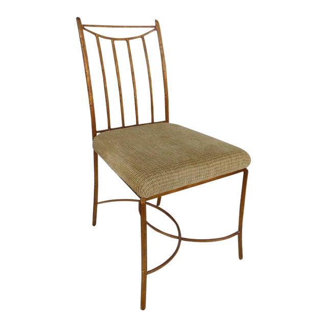Mid-Century Gilt Iron Faux-Bois Desk Chair by Swaim For Sale