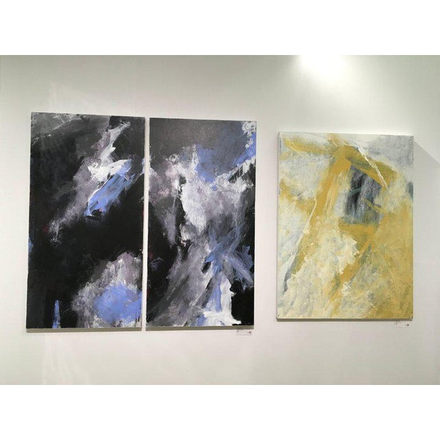 Stephanie Cate Stephanie Cate Abstract Europa 24 & 25 Diptych Acrylic Paintings on Wood Panel For Sale - Image 4 of 6
