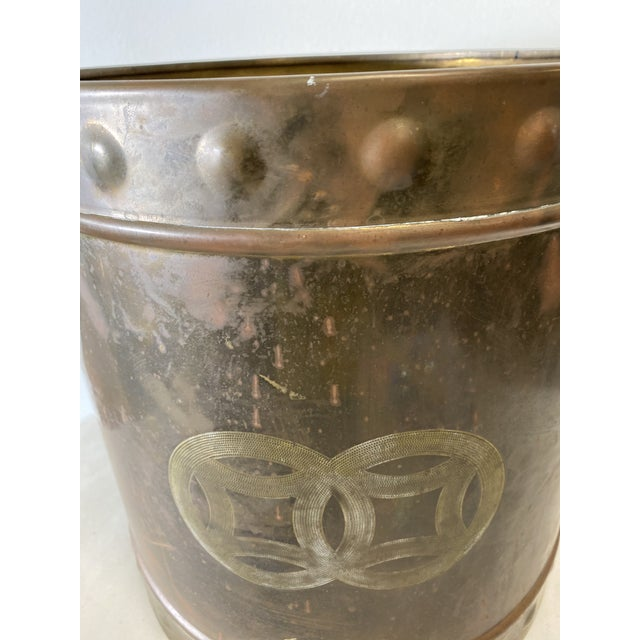 Mid Century Brass Cashepot For Sale In Washington DC - Image 6 of 7