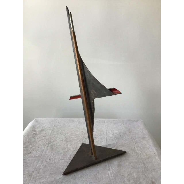 1980s Industrialist Iron and Copper Sculpture Signed Bob Lober For Sale In New York - Image 6 of 11
