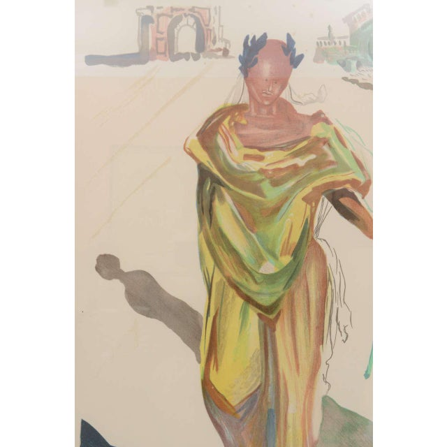 "Mid-Century Modern Salvador Dali 1970s Lithograph, ""Apollo"" For Sale - Image 3 of 10"