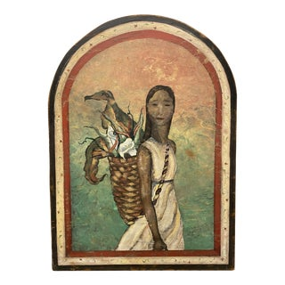 Native American Painting by Deborah Mitchell For Sale