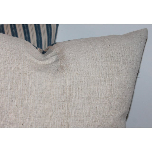 Striped Ticking Pillows - A Pair For Sale - Image 5 of 6