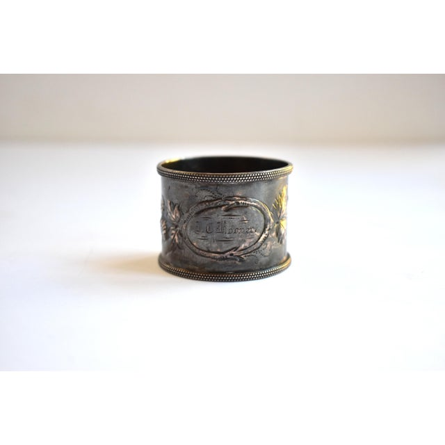 19th Century Antique Victorian Repoussé Napkin Ring Holder For Sale In San Francisco - Image 6 of 8